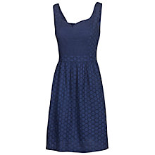 Buy Fat Face Skye Broderie Dress, Navy Online at johnlewis.com
