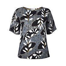 Buy White Stuff Linen Crete Top, Squid Ink Online at johnlewis.com