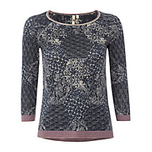 Buy White Stuff Rhodes Print Linen Cotton Jumper, Multi Online at johnlewis.com