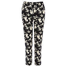 Buy Oasis Shadow Rose Trousers, Multi Black Online at johnlewis.com