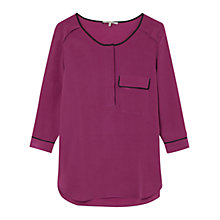 Buy Gerard Darel Silk Avenir Blouse, Purple Online at johnlewis.com