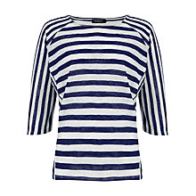 Buy Phase Eight Carris Cutabout Top, Navy/White Online at johnlewis.com