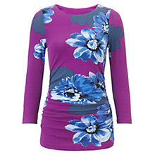 Buy Phase Eight Fraya Floral Fitted Top, Petunia Online at johnlewis.com