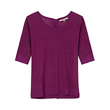 Buy Gerard Darel Linen Arius Cardigan, Purple Online at johnlewis.com