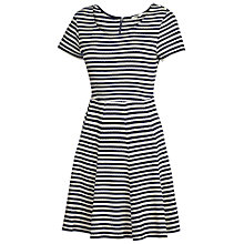 Buy Fat Face Stornoway Jacquard Dress, Navy Online at johnlewis.com