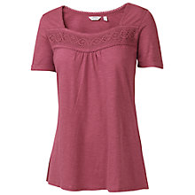 Buy Fat Face Lace Square Neck T-Shirt Online at johnlewis.com