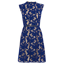 Buy Oasis Erin Lace Shift Dress, Rich Blue Online at johnlewis.com