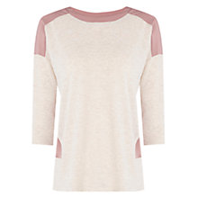 Buy Oasis Panel Detail Jumper, Pale Pink Online at johnlewis.com