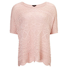 Buy Phase Eight Claudine Cable Jumper, Soft Pink Online at johnlewis.com