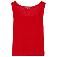 Buy Gerard Darel Linen Arold Top, Red Online at johnlewis.com