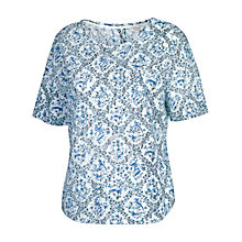Buy Fat Face Pretty Bluebird Shell T-Shirt, White / Blue Online at johnlewis.com