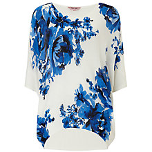 Buy Phase Eight Bethany Batwing Knit Top, White/Blue Online at johnlewis.com