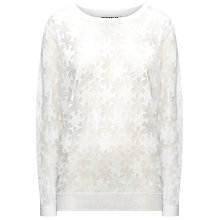 Buy Whistles Sekka Floral Burn Out Jumper, White Online at johnlewis.com