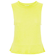 Buy Whistles Linen Flippy Hem Vest, Yellow Online at johnlewis.com