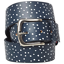 Buy White Stuff Rhodes Belt, Navy Blue Spot Online at johnlewis.com