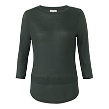 Buy Jigsaw Rib Mix T-shirt,  Eucalyptus Online at johnlewis.com