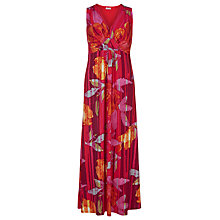 Buy Windsmoor Rouge Print Maxi Dress, Bright Red Online at johnlewis.com