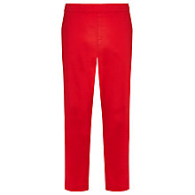 Buy Windsmoor Cropped Twill Trousers, Bright Red Online at johnlewis.com