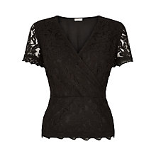 Buy Planet Lace Crossover Top, Black Online at johnlewis.com