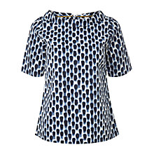 Buy White Stuff Splatter Spot Cotton Top, Oyster Blue Online at johnlewis.com