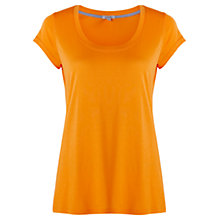 Buy Jigsaw Pima Cotton Blend T-Shirt, Tangerine Online at johnlewis.com