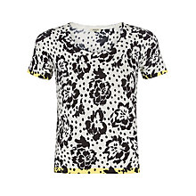 Buy Precis Petite Floral and Spot Print Knit Top, Multi Light Online at johnlewis.com