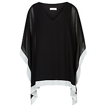 Buy Windsmoor Chiffon Tunic Top, Black/White Online at johnlewis.com