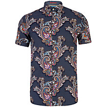 Buy Ted Baker Wisely Paisley Printed Shirt, Navy Online at johnlewis.com