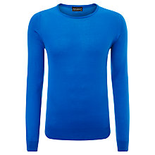 Buy John Smedley Luke Cotton Crew Neck Jumper, Lapis Blue Online at johnlewis.com