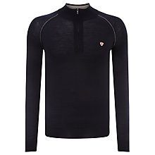 Buy John Smedley Porter Half Zip Merino Top, Midnight/Silver Online at johnlewis.com