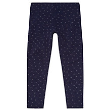 Buy Jigsaw Junior Girls' Printed Leggings, Navy Online at johnlewis.com