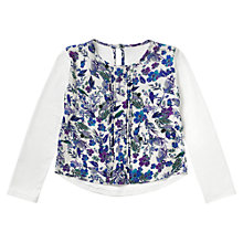 Buy Jigsaw Junior Girls' Rainforest Floral T-Shirt, White Online at johnlewis.com