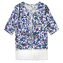 Buy Jigsaw Junior Girls' Rainforest Floral Kimono, White Online at johnlewis.com