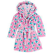 Buy Hatley Girls' Butterflies Fleece Dressing Gown, Pink Online at johnlewis.com