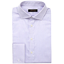 Buy Jaeger Wide Stripe Classic Shirt, Lilac Online at johnlewis.com