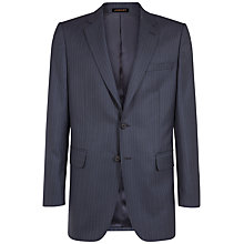 Buy Jaeger Wool Herringbone Suit Jacket, Navy Online at johnlewis.com