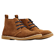 Buy Little Joule Barkby Lace Suede Chukka Boots, Tan Online at johnlewis.com