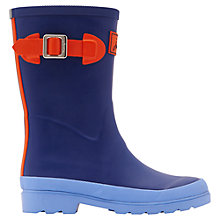 Buy Little Joule French Field Wellington Boots, Navy/Red Online at johnlewis.com