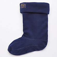 Buy Little Joule Welton Fleece Wellington Socks, French Navy Online at johnlewis.com