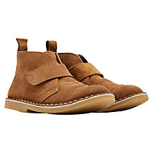 Buy Little Joule Barkby Rip-Tape Suede Chukka Boots, Tan Online at johnlewis.com