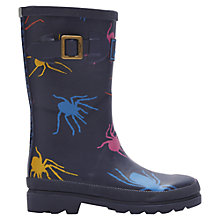 Buy Little Joule Spider Wellington Boots, Navy/Multi Online at johnlewis.com