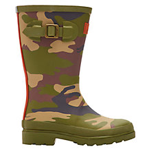 Buy Little Joule Hare Camo Wellington Boots, Khaki Online at johnlewis.com