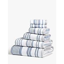 Buy John Lewis Salcombe Stripe Towels, Coastal Blue Online at johnlewis.com