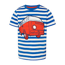 Buy John Lewis Boy Stripe Campervan T-Shirt, Blue Online at johnlewis.com
