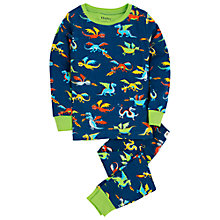 Buy Hatley Boys' Dragon Print Pyjamas, Navy/Multi Online at johnlewis.com