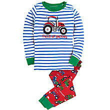 Buy Hatley Boys' Tractor Pyjamas, Red/Multi Online at johnlewis.com