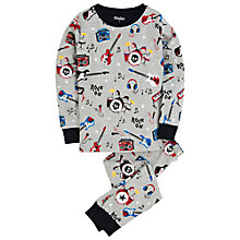 Buy Hatley Boys' Rock Music Pyjamas, Grey/Multi Online at johnlewis.com