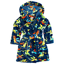 Buy Hatley Boys' Dragon Print Robe, Navy/Multi Online at johnlewis.com