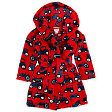 Buy Hatley Boys' Tractor Bear Fleece Robe, Red/Multi Online at johnlewis.com