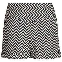 Buy Reiss Zig Zag Shorts, Black/White Online at johnlewis.com